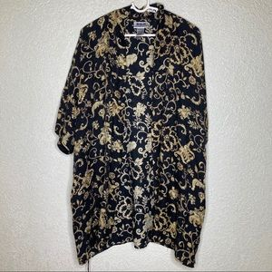 SILX By August Silk Size Large Kimono